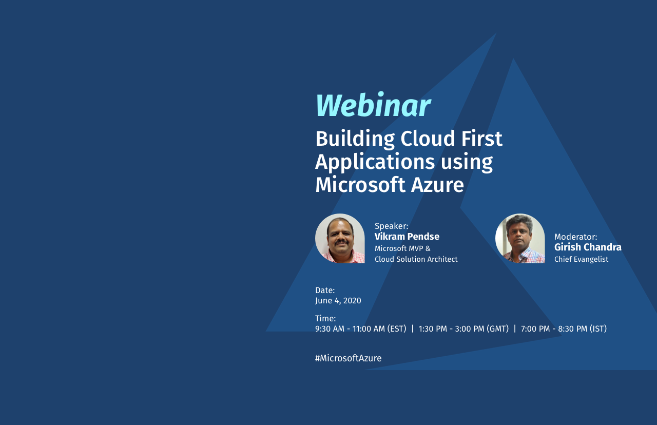 Building Cloud First Applications using Microsoft Azure