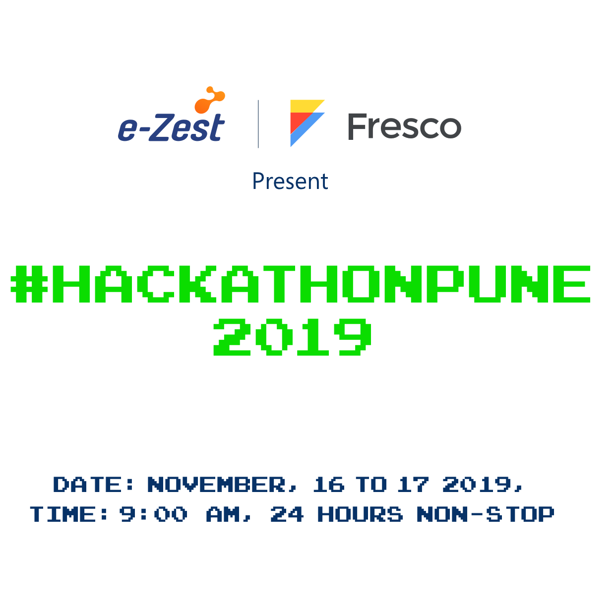 #HackathonPUne 2019 organized by e-Zest Solutions and Fresco Capital