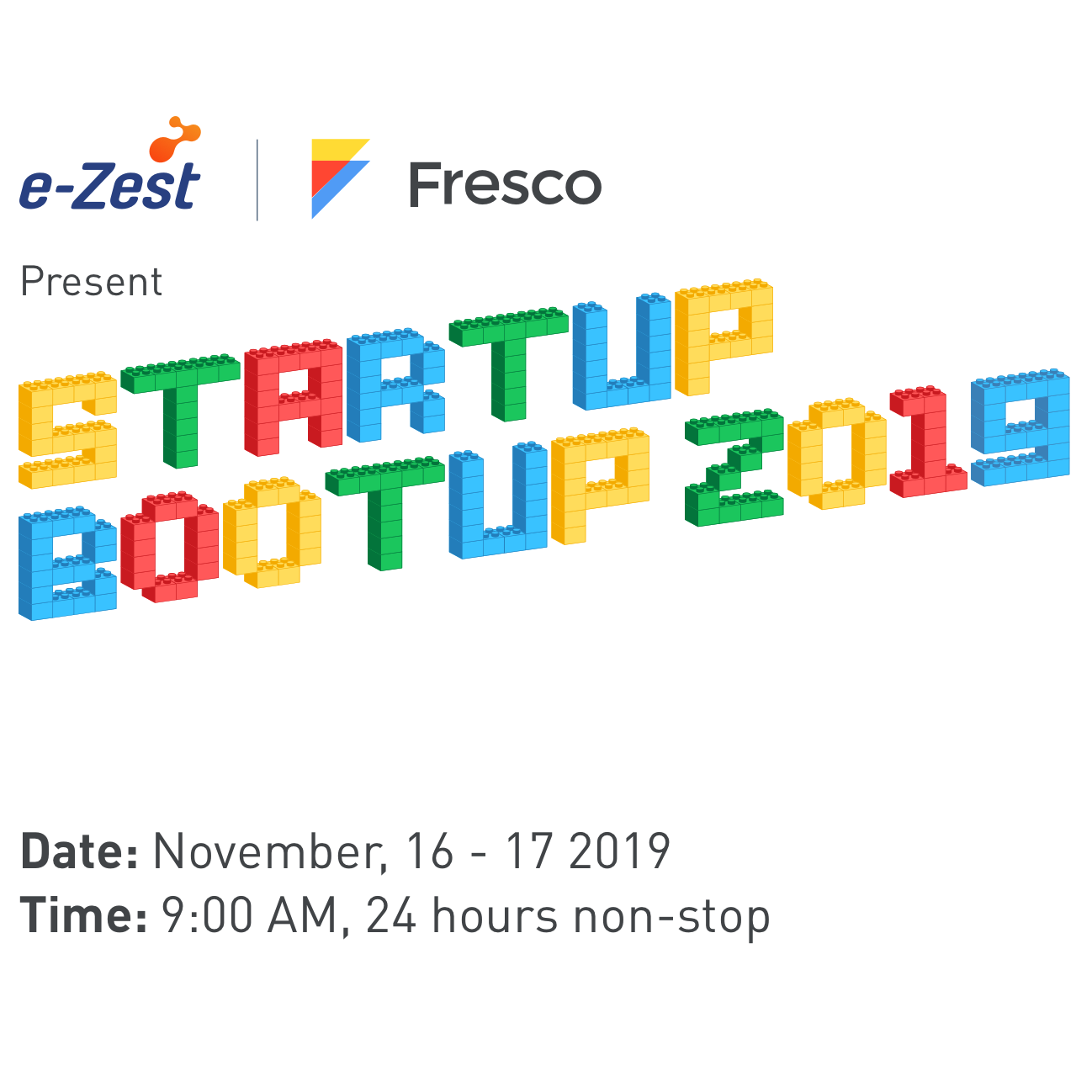 Startup Bootup 2019 organized by e-Zest Solutions and Fresco Capital