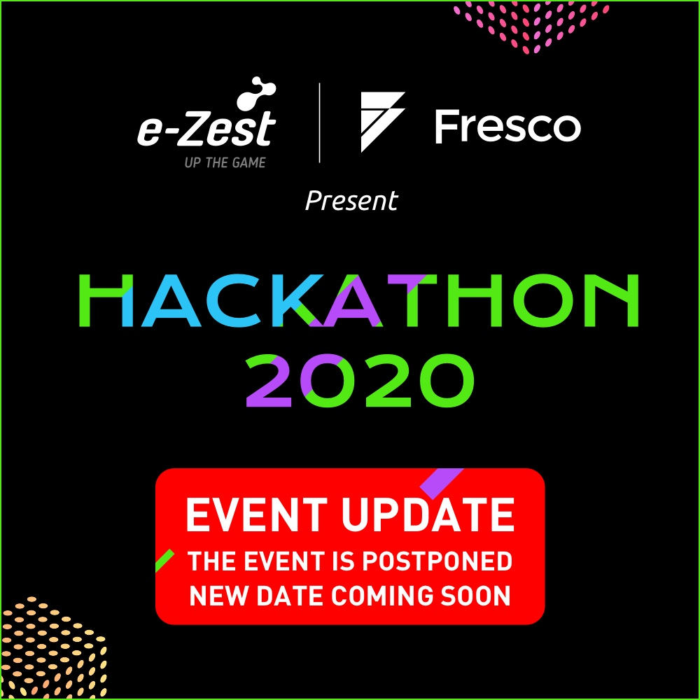 #HackathonPUne 2020 organized by e-Zest Solutions and Fresco Capital