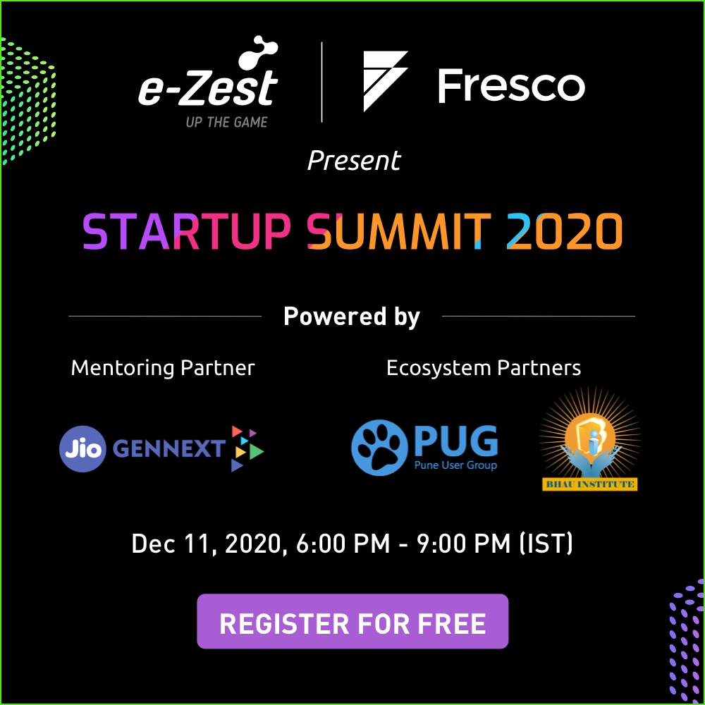 Startup Bootup 2020 organized by e-Zest Solutions and Fresco Capital